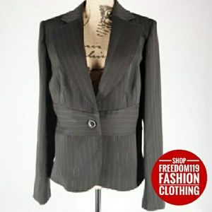Studio 1940 | Pinstripe Tailored Blazer Jacket (L)